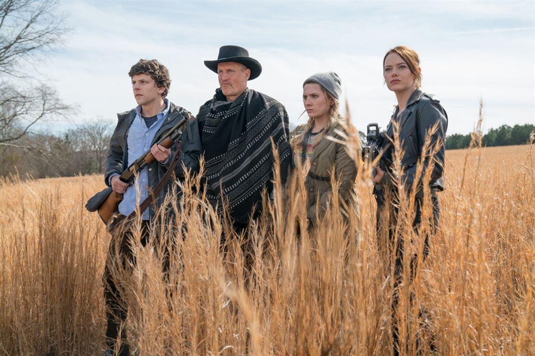 Retour à Zombieland : Photo Abigail Breslin, Emma Stone, Jesse Eisenberg, Woody Harrelson