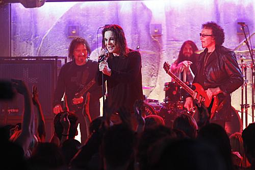 Photo Geezer Butler, Ozzy Osbourne, Tony Iommi