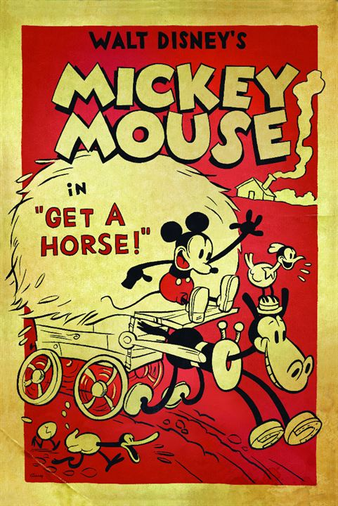 Mickey, à cheval ! : Affiche
