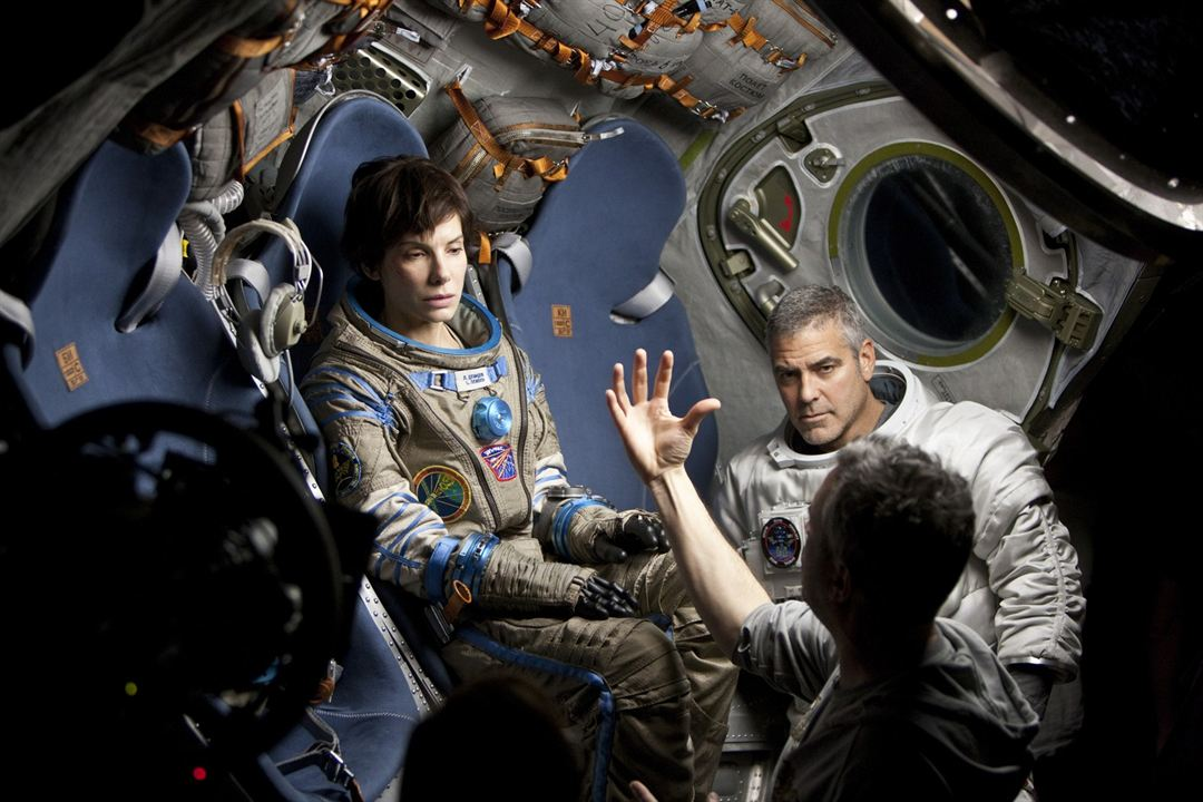 Gravity : Photo George Clooney, Sandra Bullock