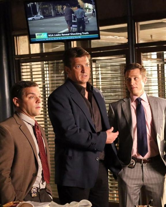 Photo Joshua Bitton, Nathan Fillion, Seamus Dever