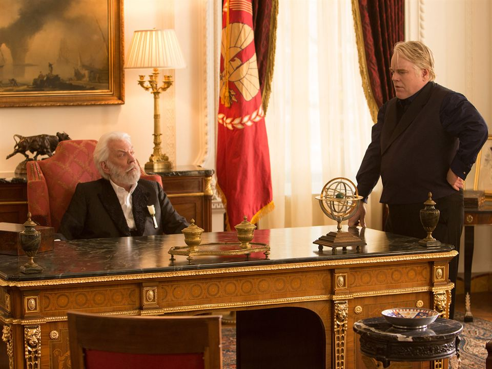 Hunger Games - L'embrasement : Photo Donald Sutherland, Philip Seymour Hoffman