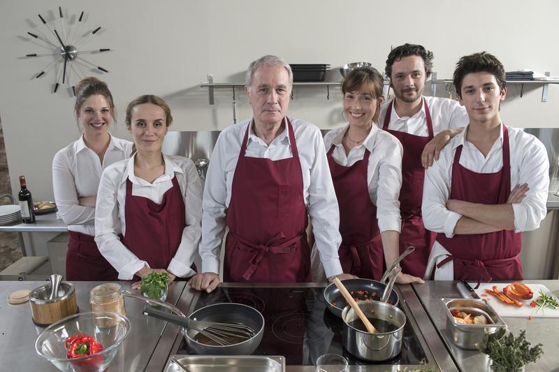 Le goût du partage : Photo Annelise Hesme, Bernard Le Coq, Boris Rehlinger, Morgane Cabot, Paul Granier