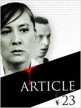 Article 23 affiche