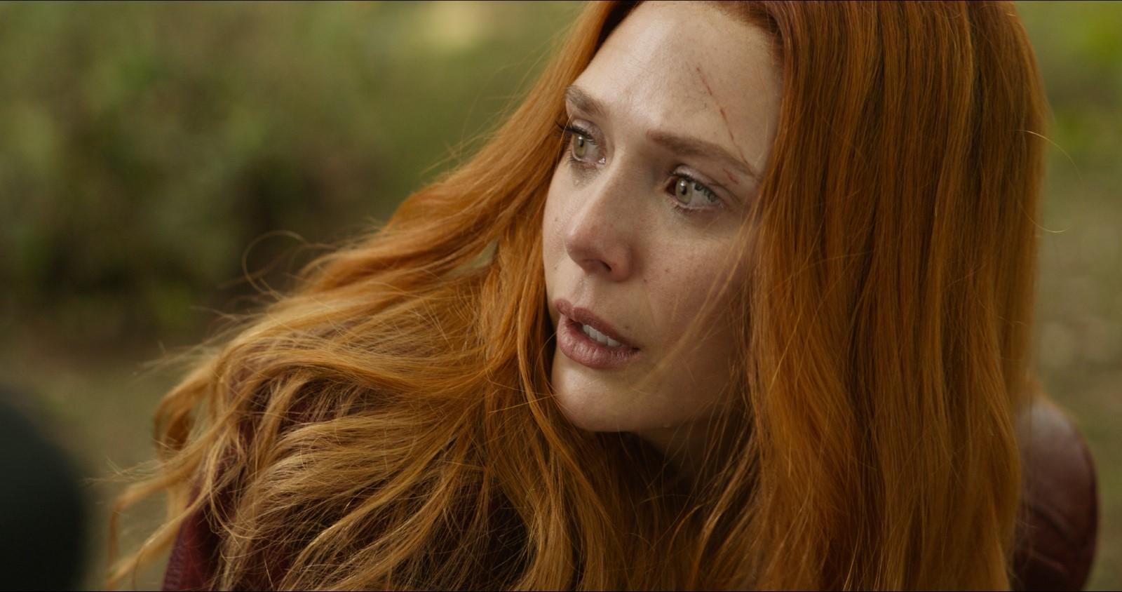 Elizabeth Olsen dans Avengers : infinity war