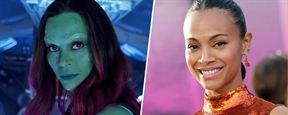 Les Gardiens de la Galaxie : Les acteurs avec et sans le costume