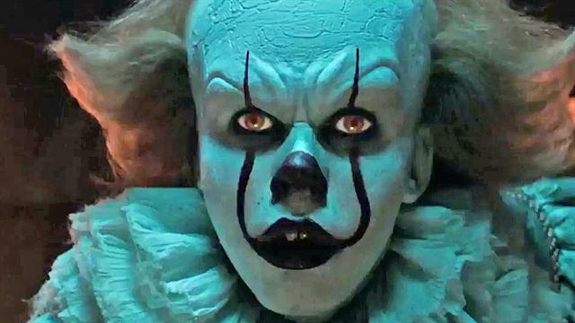 a le clown pennywise toujours plus terrifiant sur la nouvelle photo allocin. Black Bedroom Furniture Sets. Home Design Ideas