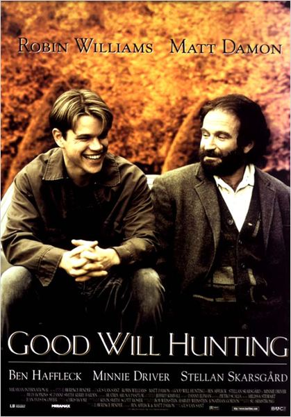 Will Hunting : Affiche Gus Van Sant, Matt Damon, Robin Williams