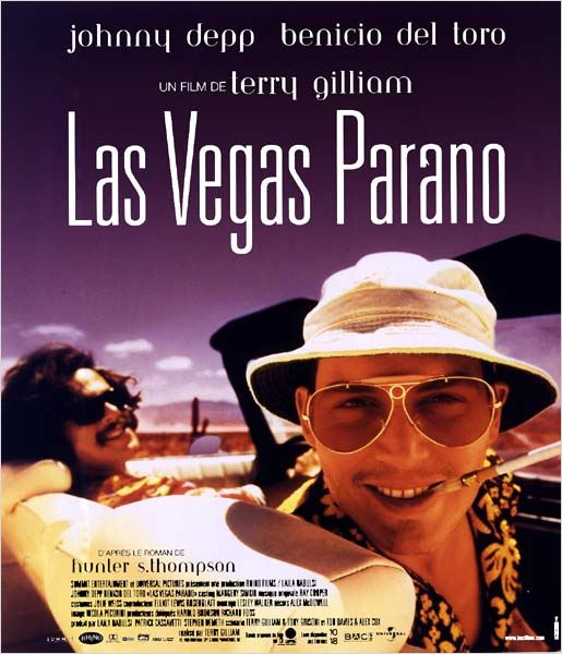 Las Vegas parano : affiche Benicio Del Toro, Johnny Depp, Terry Gilliam