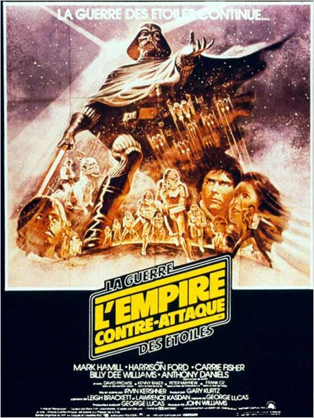 Star Wars : Episode V - L'Empire contre-attaque : Affiche Anthony Daniels, Billy Dee Williams, Carrie Fisher, David Prowse, George Lucas