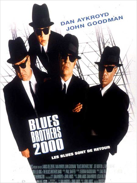 Blues Brothers 2000 : affiche Dan Aykroyd, John Goodman, John Landis
