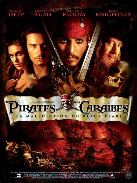 Pirates des Caraïbes : la Malédiction du Black Pearl : affiche
