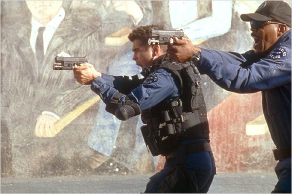 S.W.A.T. unit&#233; d&#39;&#233;lite : photo Clark Johnson, Colin Farrell, Samuel L. Jackson