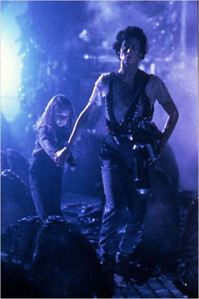 Aliens le retour : photo Carrie Henn, James Cameron, Sigourney Weaver