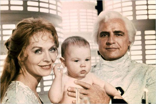 Superman : Photo Marlon Brando, Richard Donner, Susannah York