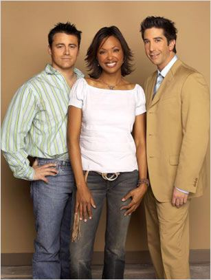 Friends : photo Aisha Tyler, David Schwimmer, Matt LeBlanc