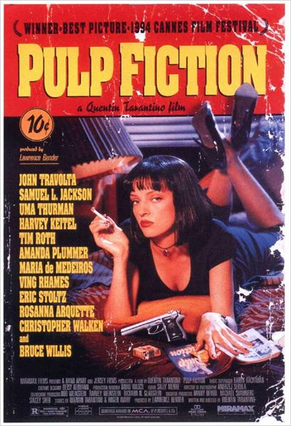 Pulp Fiction : affiche Quentin Tarantino, Uma Thurman