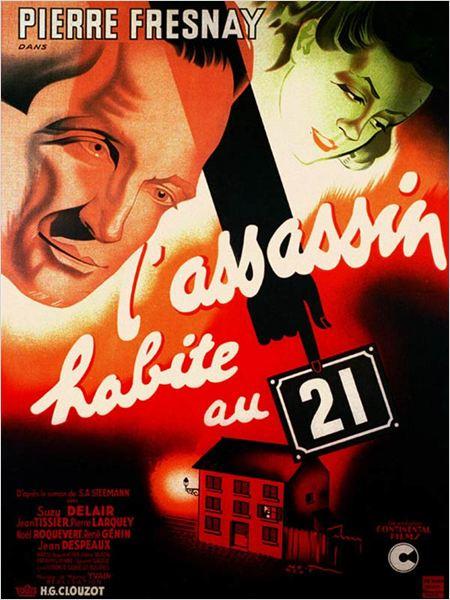 L'Assassin habite au 21 : Affiche Henri-Georges Clouzot, Pierre Fresnay, Suzy Delair