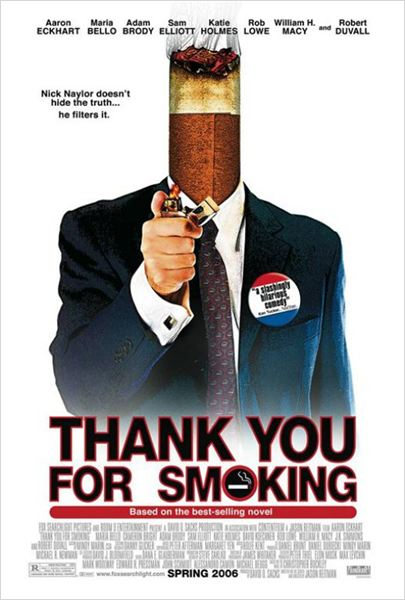 Thank you for smoking : affiche Jason Reitman