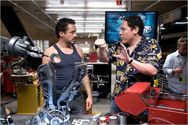 Iron Man : Photo Jon Favreau, Robert Downey Jr.
