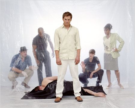 Dexter : Photo David Zayas, Erik King, Jennifer Carpenter, Lauren Velez, Michael C. Hall