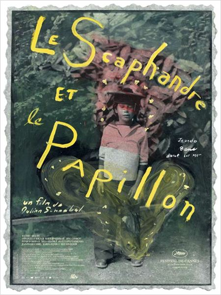 Le scaphandre et le papillon : affiche Julian Schnabel