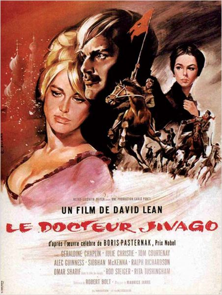 Le Docteur Jivago : Affiche David Lean, Julie Christie, Omar Sharif