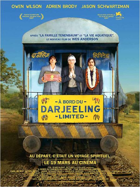 A bord du Darjeeling Limited : Affiche Adrien Brody, Jason Schwartzman, Owen Wilson