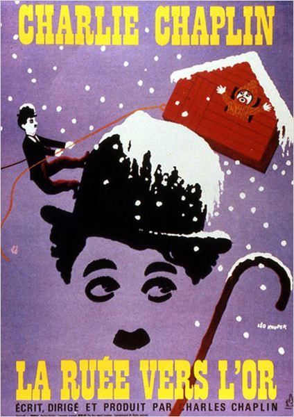 La Ruée vers l'or : Affiche Charles Chaplin