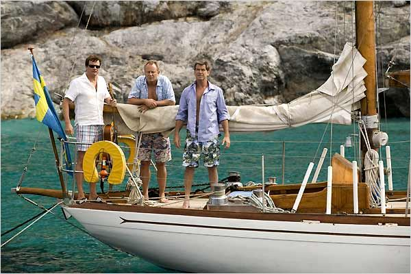 Mamma Mia ! : Photo Colin Firth, Phyllida Lloyd, Pierce Brosnan, Stellan Skarsgård