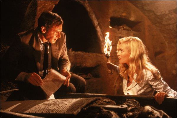 Indiana Jones et la Dernière Croisade : Photo Alison Doody, Harrison Ford, Steven Spielberg