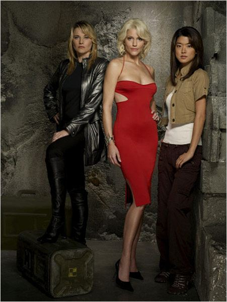 Battlestar Galactica : Photo Grace Park, Lucy Lawless, Tricia Helfer