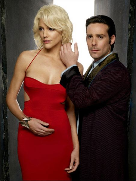 Battlestar Galactica : Photo James Callis, Tricia Helfer