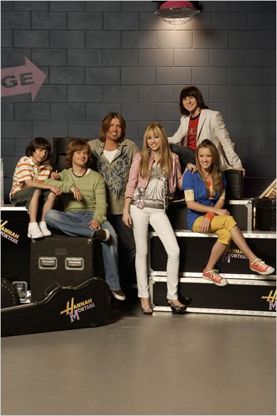 Hannah Montana : Photo Billy Ray Cyrus, Emily Osment, Jason Earles, Miley Cyrus, Mitchel Musso