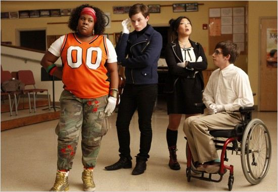 Glee : Photo Amber Riley, Chris Colfer, Jenna Ushkowitz, Kevin McHale