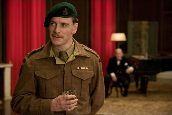 Inglourious Basterds : photo Michael Fassbender, Quentin Tarantino