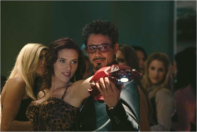 Iron Man 2 : Photo Jon Favreau, Robert Downey Jr., Scarlett Johansson