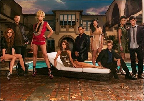 Melrose Place, Nouvelle Génération : Photo Ashlee Simpson, Colin Egglesfield, Jessica Lucas, Katie Cassidy, Laura Leighton