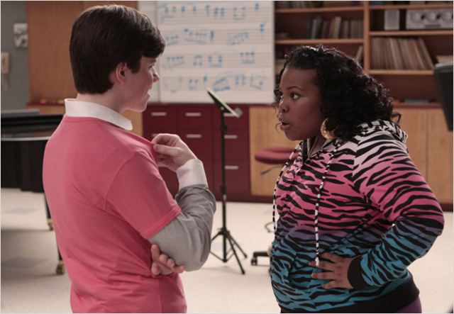 Glee : Photo Amber Riley, Chris Colfer