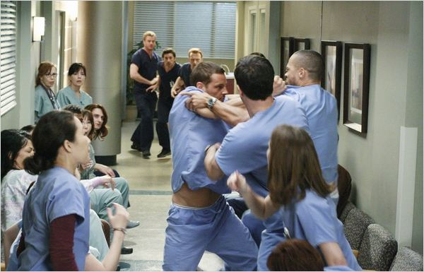 Grey's Anatomy : Photo Jesse Williams, Justin Chambers, Robert Baker