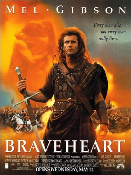 Braveheart : affiche Mel Gibson