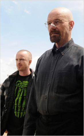 Photo Aaron Paul, Bryan Cranston