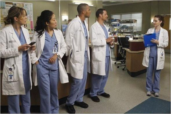 Photo Ellen Pompeo, Jesse Williams, Justin Chambers, Sandra Oh, Sarah Drew