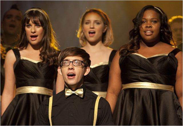 Photo Amber Riley, Dianna Agron, Kevin McHale, Lea Michele, Mark Salling