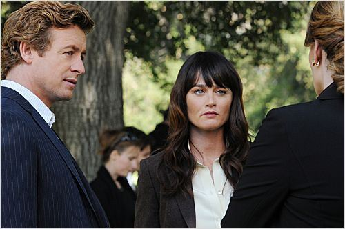 Mentalist : photo Robin Tunney, Simon Baker