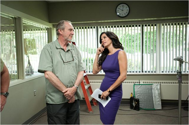Scream 4 : photo Courteney Cox, Wes Craven