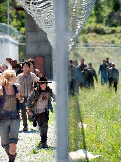 The Walking Dead : photo Chandler Riggs, Emily Kinney, IronE Singleton, Lauren Cohan, Melissa Suzanne McBride