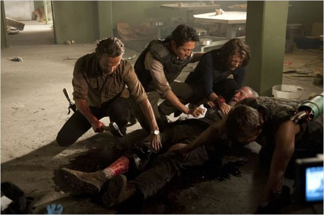 Photo Andrew Lincoln, Lauren Cohan, Norman Reedus, Scott Wilson (II), Steven Yeun