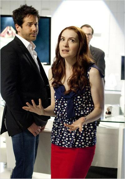Eureka : photo Felicia Day, Niall Matter