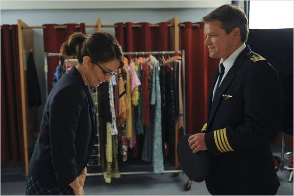 30 Rock : photo Matt Damon, Tina Fey